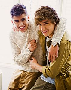 Ziam! <3 Again, their smiles are just so adorable. I love them oh so much <3 Zayn Malik and Liam Payne - One Direction