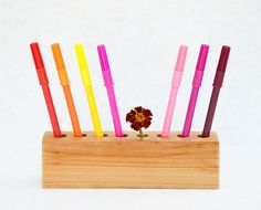 wooden pencil holder | lessandmore