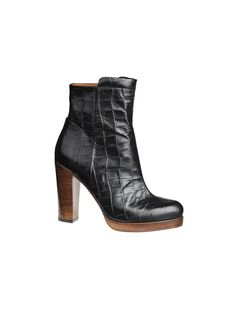 Azziana ankle boots - Croco embossed leather - # Q56728001 - By Malene Birger Autumn Winter 2014 - Women's fashion