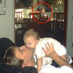The couple from this picture have no other children, no dolls, and no way for another child to be present in the next room - They claim it is a ghost.