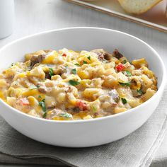 Creamy Beef & Potatoes Creamy Beef & Potatoes Recipe -One of my husband's favorite childhood memories was eating his Grandma Barney's Tater Tot Casserole. It's just as much fun making with O'Brien potatoes, too. Beef Dishes, Food Dishes, Main Dishes, Dutch Oven Recipes, Cooking Recipes, Cooking Tips, Best Ground Beef Recipes, Beef And Potatoes, Casserole Recipes