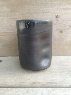 Handprint mug in pewter by mud + stone Mud, Pewter, Vase, Canning, Stone, Home Decor, Tin Metal, Tin, Flower Vases