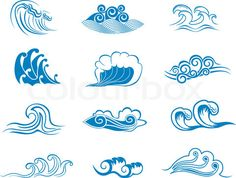 Different styles of waves