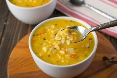 Sweet corn sage soup