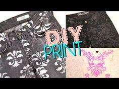 DIY Printed Pattern : DIY Print Jeans & Top: Brocade & DamaskDIY Print Jeans & Top: Brocade & Damask DIY Clothes DIY Refashion