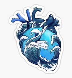 """Beneath the Waves"" Stickers by gohldfish Tumblr Stickers, Cute Stickers, Laptop Stickers, Aesthetic Stickers, Art Inspo, Art Drawings, Fish Drawings, Tattoo Drawings, Cool Art"