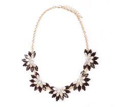 Send the Trend Crystal Petal Bib Necklace
