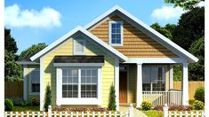 Window Seat, Snack Bar, and More HWBDO75880 + Cottage from BuilderHousePlans.com
