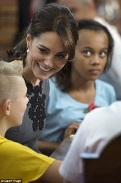 The children appeared delighted to be in the company of the caring royal, who champions yo...