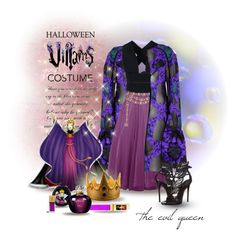 """""""the evil queen ..."""" by jenesaisquoilifestyle ❤ liked on Polyvore featuring Yves Saint Laurent, Erdem, STELLA McCARTNEY, Chanel, Disney, Christian Dior, Giuseppe Zanotti, Halloween, 60secondstyle and villaincostume"""