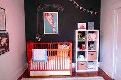 chalkboard wall in nursery