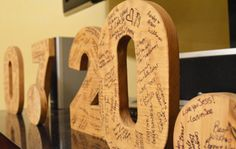 Alternative guest book idea: create large block numbers of your wedding date and have guests sign them! Great to display in your home afterwards!