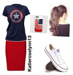 """""""Modest Casual captain America"""" by katieroselynn13 on Polyvore: - Visit to grab an amazing super hero shirt now on sale!"""