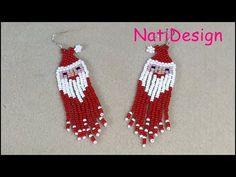 Seed Bead Earrings, Beaded Earrings, Seed Beads, Beaded Jewelry, Crochet Earrings, Beaded Bracelets, Christmas Jewelry, Christmas Crafts, Christmas Ornaments