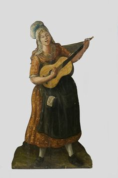 Female Street Player with Guitar (Dummy board) | V Search the Collections ca.1780, British