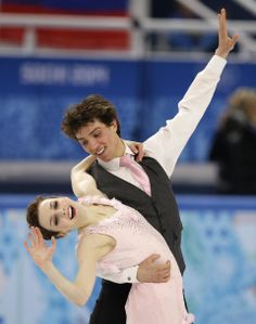 DAY 10:  Alexandra Paul and Mitchell Islam of Canada compete during Figure Skating Ice Dancing Short Program http://sports.yahoo.com/olympics