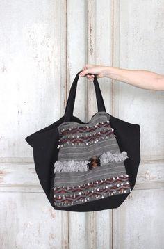 ana-cuca: Bolso en negro y gris.