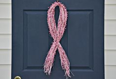 Breast Cancer Awareness Wreath  Breast by JuliesHomeCreations, $30.00