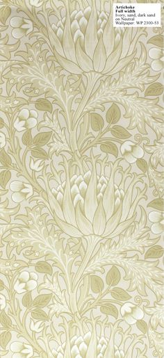 william morris wallpaper Artichoke