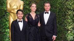 Brad Pitt, Angelina Jolie, and Maddox Jolie-Pitt