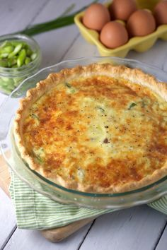 Savory Ham and Asparagus Quiche Recipe @FoodBlogs