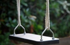 Triple Swing Frame with three double swing points for you to choose the swing seats to suit the age and ability of the children using it. Wooden Swing Frame, Wooden Swings, Wooden Ladder, Garden Swing Sets, Wooden Garden Swing, Single Swing, Double Swing, Garden Play Equipment, Nest Swing