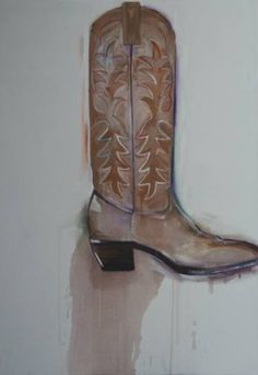 "Saatchi Art Artist Jim Abuan; Painting, ""Cowboy Boot"" #art"