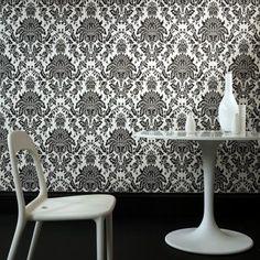 Graham & Brown Elizabeth Wallpaper Black and White - 17153
