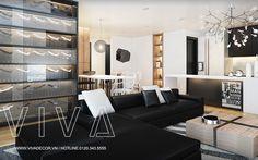 Thiết kế nội thất chung cư gia đình anh Thắng Tây Hồ đẹp