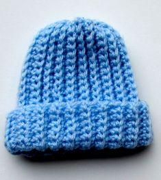 Ribbed Crochet Baby Beanie Pattern - Itchin' for some Stitchin' Baby Beanie Crochet Pattern, Preemie Crochet, Ribbed Crochet, Crochet Baby Blanket Beginner, Crochet Baby Booties, Crochet Patterns, Crochet Hats, Free Crochet, Easy Crochet