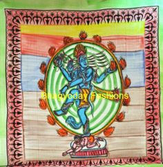 Mendiation Indian Lord Shiv Mandala Tapestry,Bedspread,Hippie,Wall Hanging,Throw