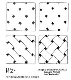 W2. Oficial Tangle Pattern created by Rick Roberts and Maria Thomas. Suzanne McNeill shows us how to draw this tangle.
