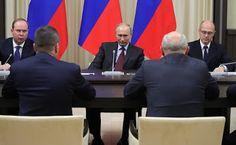 Vladimir Putin in the Kremlin. Former Russian regional leaders.