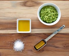 "Whip up an ultra-luxe body scrub      Donna Steinmann, founder of organic body-care line Medicine Mama's Apothecary, swears by this skin-softening recipe. In a bowl, combine: 1 mashed-up ripe avocado, 1 tbsp sea salt, 1 tbsp extra-virgin olive oil, 1 tbsp honey. ""Avocado, olive oil, and honey are all super-hydrating, and sea salt can help soothe chronic skin conditions like eczema,"" Steinmann says."