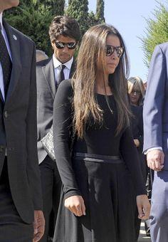 Ana Boyer y Verdasco, durante el entierro de Miguel Boyer el pasado 30 de Septiembre del 2014