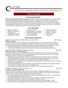 Resumes For Medical Assistants Elizabeth Balaoing Elizabethbalaoi On Pinterest