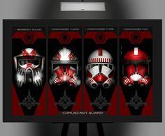 Star Wars Inspired Coruscant Guard Composite Art by Herofied Star Wars Helmet, Star Wars Clone Wars, Star Wars Art, Star Wars Pictures, Star Wars Images, Guerra Dos Clones, Stargate, Clone Trooper Helmet, Love Stars
