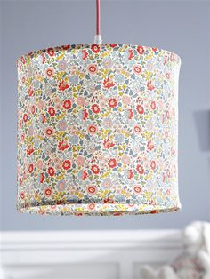 #hanglamp #bloemetjes + #textielsnoer | Cyrillus :: Pantalla de lámpara en Liberty
