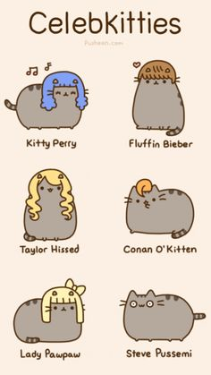 Pusheen the Adorable Bouncy Cat from Everyday Cute