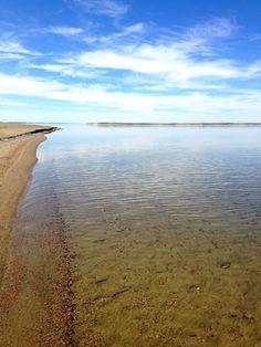 Calm waters at Lake Diefenbaker Calm Waters, Saskatchewan Canada, Sunset Beach, Sandy Beaches, Patio Design, Lakes, Summer Fun, Toronto, Tourism