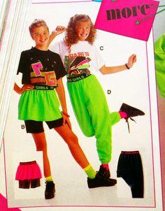 80's neon clothing