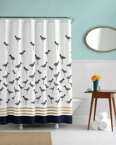 kate spade | wickford sandpiper shower curtain $40