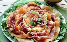 Carpaccio estivo di Prosciutto crudo, Melone e Ananas
