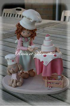 Miniature en fimo porcelana fria polymer clay pasta francesa masa flexible fimo topper modelado figurine
