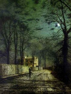 Grimshaw, John Atkinson (b,1836)- Night Time