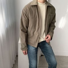 Korean Fashion Men, Korean Street Fashion, Mens Fashion, Fashion Infographic, Denim Jacket Fashion, Stylish Mens Outfits, Men's Wardrobe, Mens Clothing Styles, Men Casual