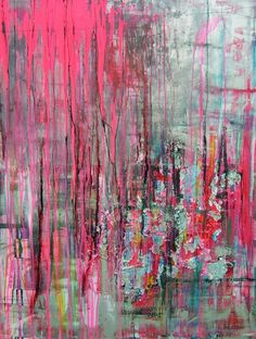 "Pauline Remy // Mixed Media ""STREET PULSION"" abstract art"