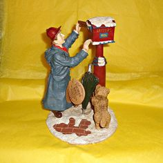 Thomas Nast 'Christmas Streets' Figure by WelshGoatVintage on Etsy