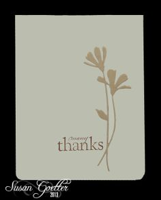 2/3/2013; Susan Goetter at 'keeping in touch' blog; the Kraft flower cut from the previous pin, Susan cut the flower from creme card stock and inserted the Kraft flower!