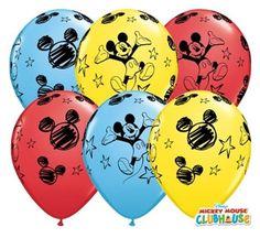 """Balon lateksowy 11"""" (29 cm) z nadrukiem Myszka Miki. Doskonała dekoracja na przyjęcie urodzinowe Twojego dziecka. Produkt licencjonowany przez firmę Disney."""
